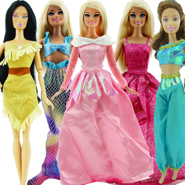 "Cinderella Fairytale Fashion Pack Doll Accessories: 5 Set Original Fairy Tale Princess Dress 11"" Doll Cosplay"
