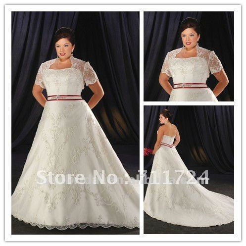 Wedding dress lace jacket plus size