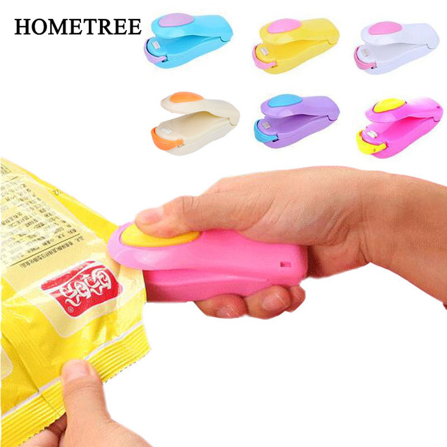 HOMETREE מיני כף יד מחזיק חשמלי חימום חטיף איטום מכונה מכונה אטום אריזת פלסטיק תיק אטום מזון תיק H274