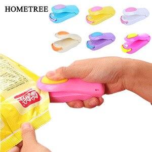 Image 1 - Hometree Mini Handheld Houder Elektrische Verwarming Snack Sluitmachine Machine Verzegelde Verpakking Plastic Zak Verzegelde Voedsel Zak H274