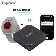 Кнопка аварийной сигнализации Topvico, Wi-Fi, для пожилых людей, RF 433 МГц, Аварийная сигнализация, браслет для часов, для пожилых людей, приложение ...