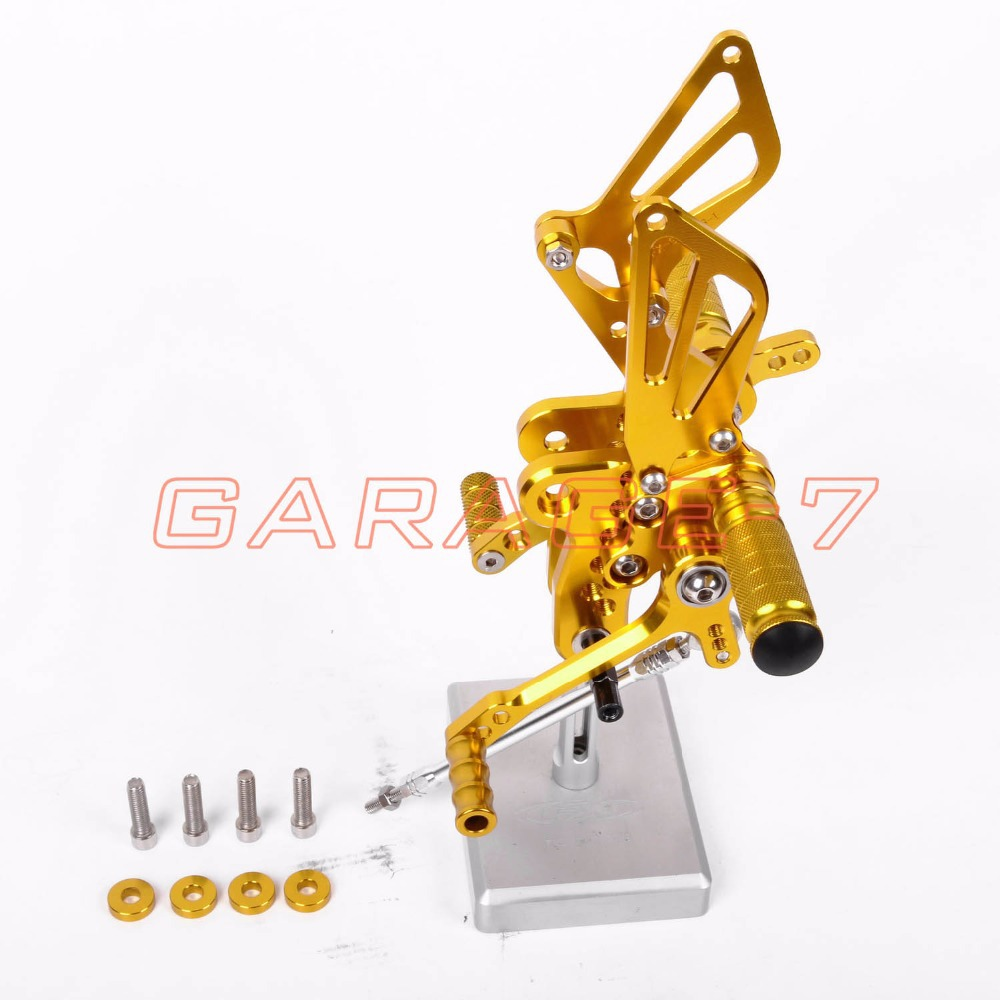 Rearsets Foot Rests Rear Set For SUZUKI GSXR 1300 Hayabusa 1999-2007 Hayabusa  Motorcycle Foot Pegs A New Yellow CNC Adjustable