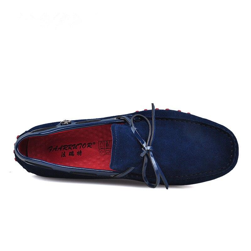 Nuevo US 6 11 gran tamaño 45 cuero de ante de vaca para hombre cordones mocasines Casual zapatos de coche de conducción mocasines zapatos de barco-in Zapatos náuticos from zapatos    2