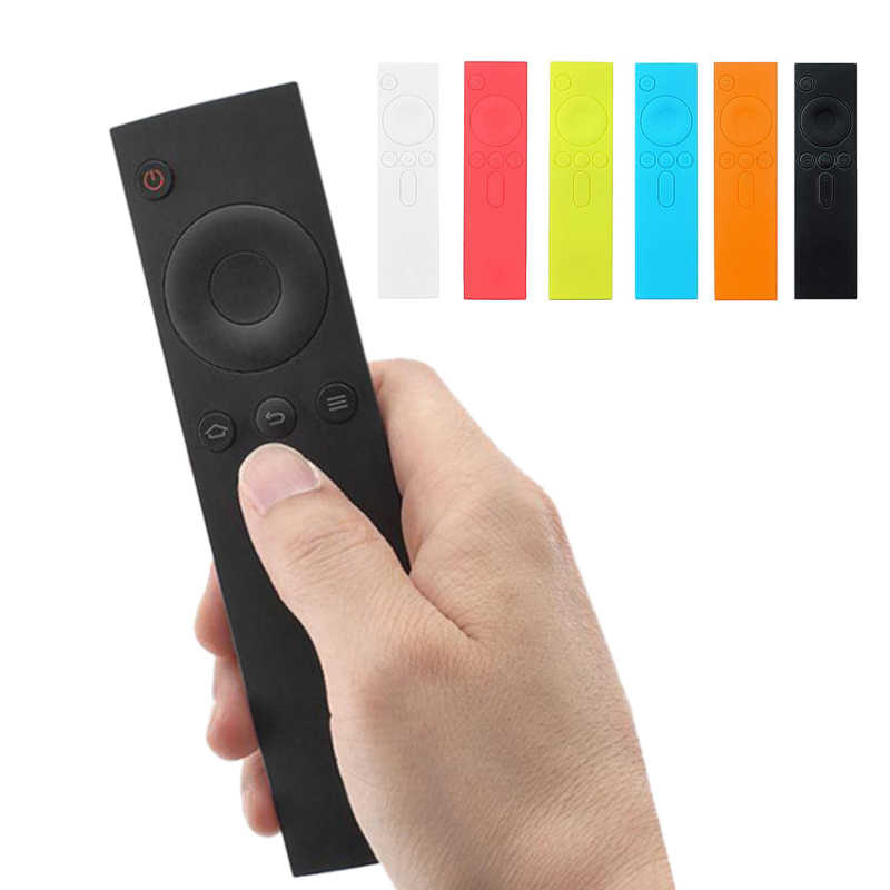 Silicone Protective Case Skin Cover For Xiaomi Smart TV Remote Control Mi TV Box Dust Holder Organizer Home Accessories Supplies