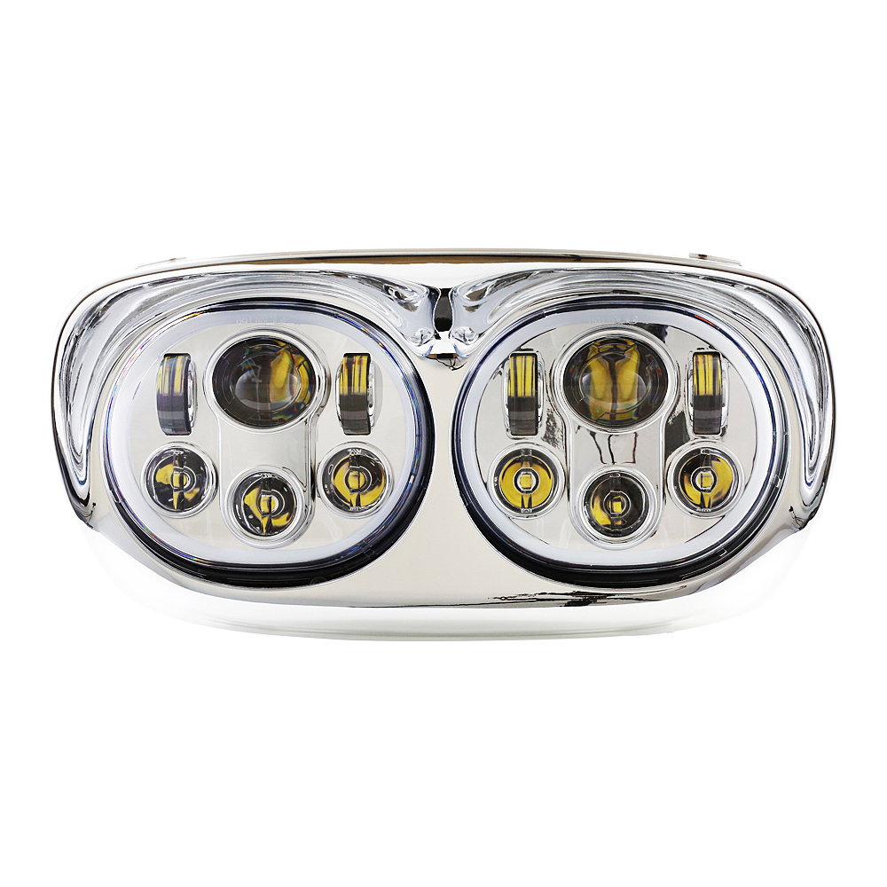 Daymaker Projector Dual LED Headlight for Harley Davidson Road Glide 2004 2013