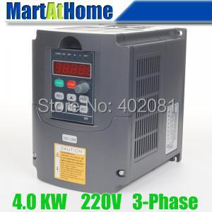 New 4.0kw 5HP 220V 18A Usual VFD Inverter Variable Frequency Drive Inverter for Spindle Motor #SM660 @SD 220v 5 5kw vfd variable frequency drive vfd inverter 3hp input 3hp output cnc spindle motor driver spindle motor speed control