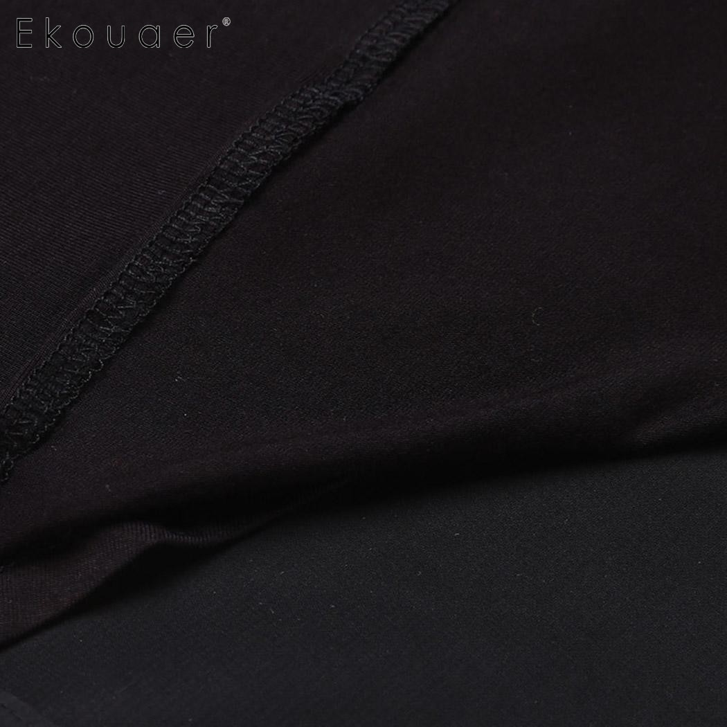Image 5 - Ekouaer Mulheres Robe de Manga Comprida de Volta Dupla Camada Sólida Sleepwear Roupão de banho com Cinto Meados Bezerro Gola Xale Vestido de Noite vestidowomen robebath robewomen robe long -