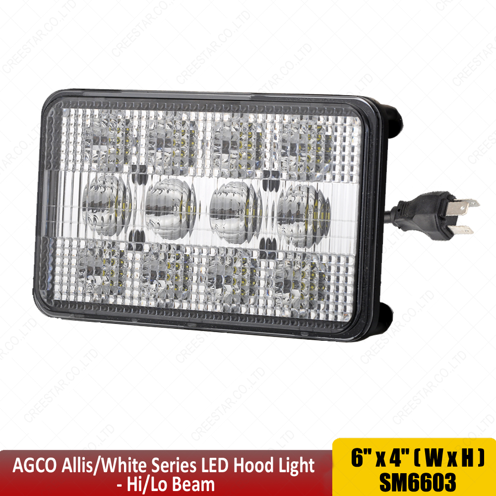 For White Workhorse Series 6x4 Headlights Replaces Front Hood Light Parking Wire Diagrams Tl9020 With High Low Beam H4 Plug 60w Led Work X2pcs In Bar