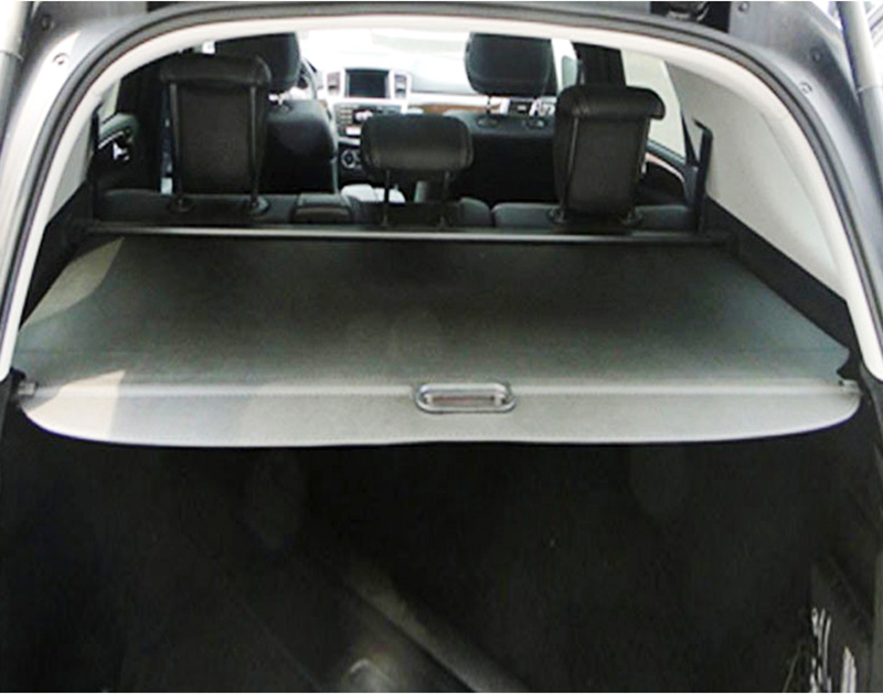 Pour mercedes-benz ML W164 ML300 ML350 ML500 2006-2012 couvercle de coffre arrière protection de sécurité accessoires ombre - 5