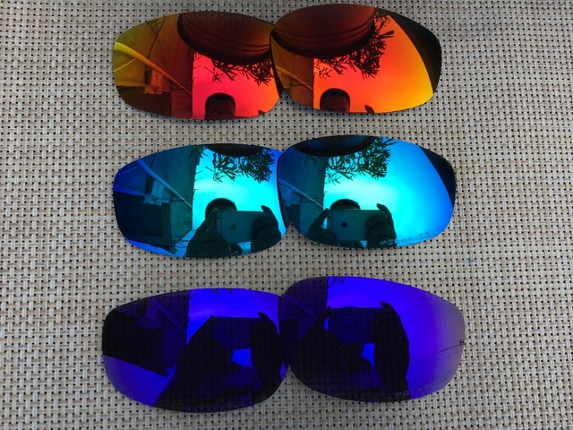 1f3dd4f4fdf4c 3 Pairs Fire Red   Purple   Ice Blue Polarized Replacement Lenses Lens for  Split Jacket Sunglasses