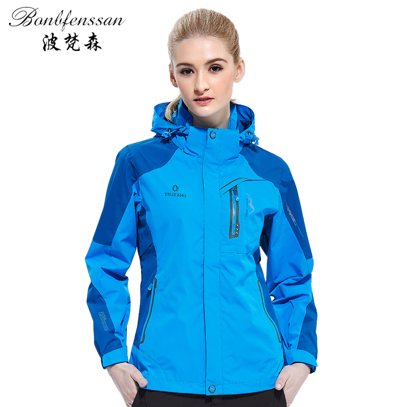 New autumn women Outdoo Jacket Thermal Windbreaker Waterproof Outdoor Sports Hiking Camping Climbing Fishing female Jacket 1609B