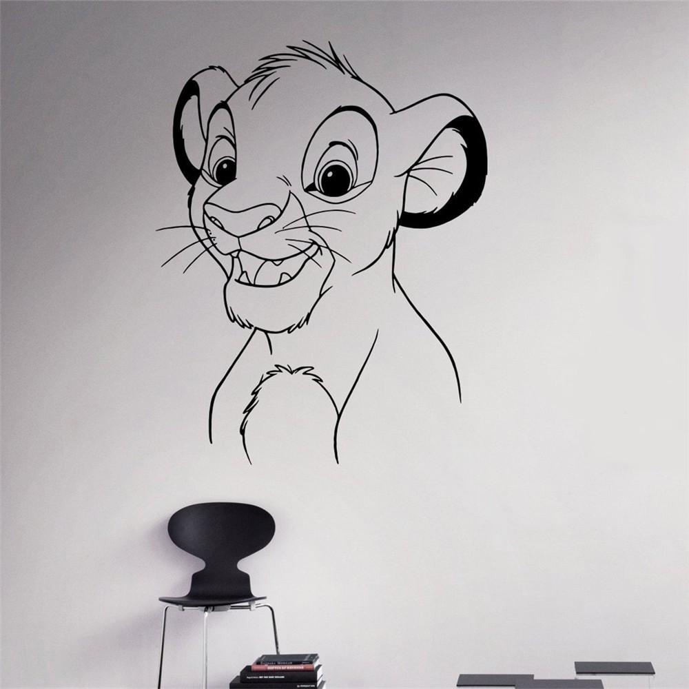 Lion King Autocollant Mural Stickers Vinyle Stickers Muraux Roi Lion Art Sticker Mural D/écor /À La Maison Chambre Simba B/éb/é Chambre D/écoration Mur De Bande Dessin/ée Ornement