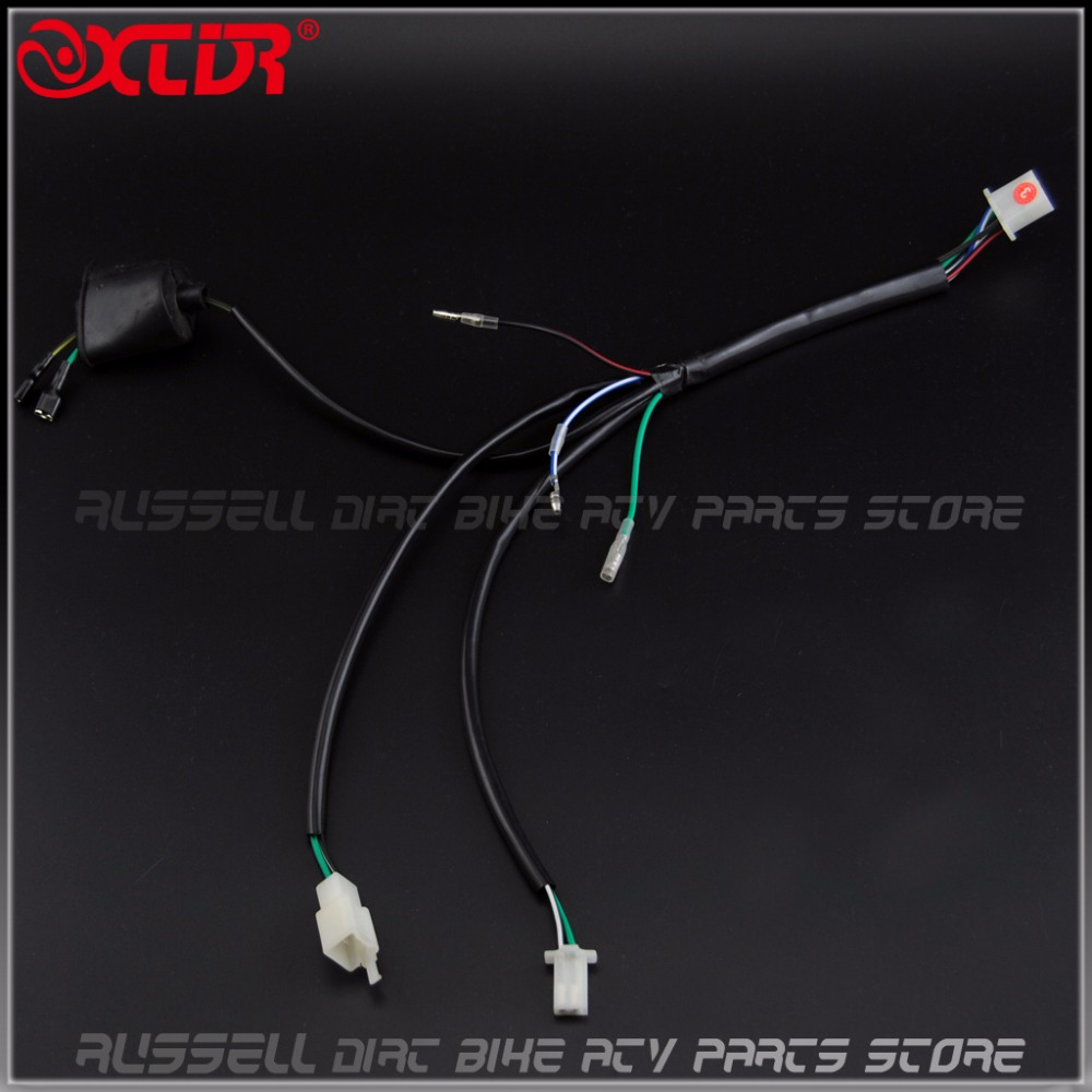 small resolution of kick start engine wiring harness for 50 110 125 140cc trail pitpro dirt bike in