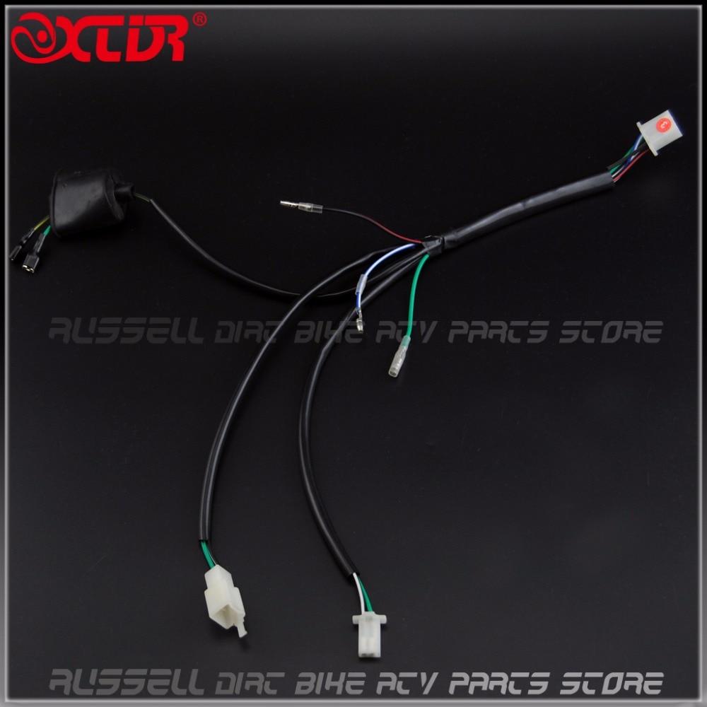 medium resolution of kick start engine wiring harness for 50 110 125 140cc trail pitpro dirt bike in