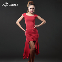 Hcdance Latin Dance Clothes Adult Dance Skirt Set Square Collar Spaghetti Strap Practice Service Female A109