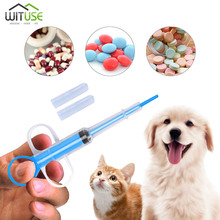 цена на Pet Dog Cat Medicine Syringe Tablet Pill Gun Piller Push Dispenser Medicine Water Syringe Useful Pet Feed Tool