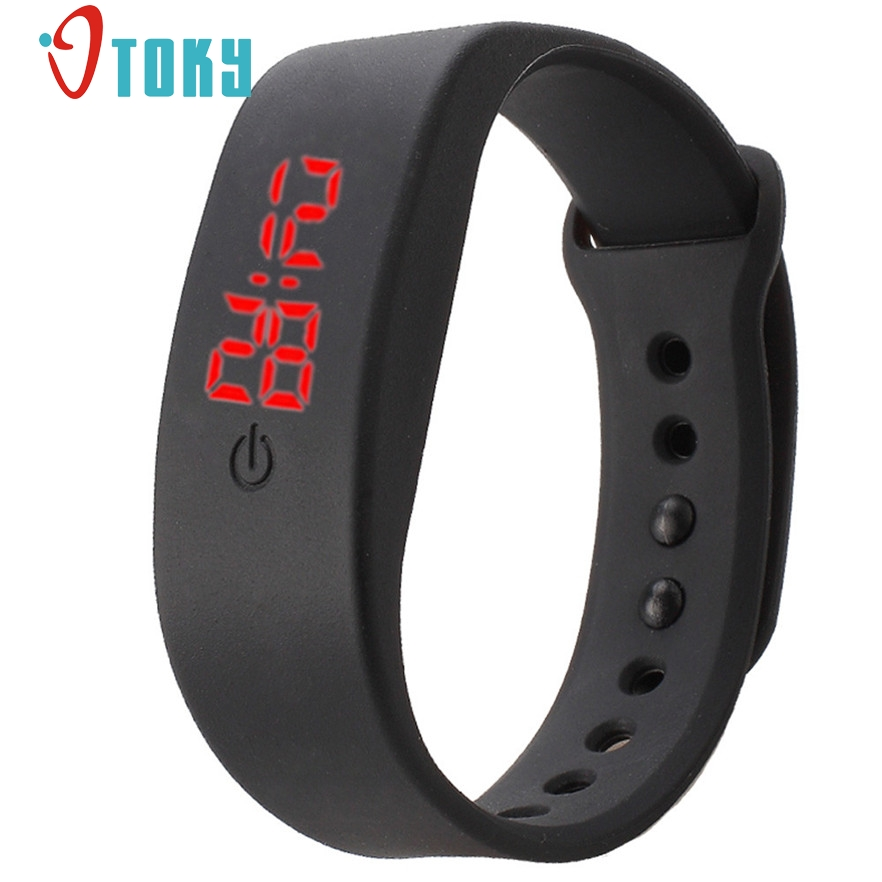 New Arrive Ultra Thin Girl Relogios masculino Sports Silicone Digital LED Sports Wrist Watch women men #40 gift 1pcs