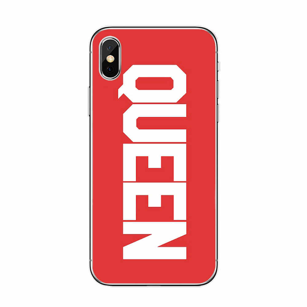 Quotes king Queen love Pink Red black phone Case For huawei P20 P30 mate 10 lite p8 P9 P10 Lite honor 10 Soft TPU Silicone Cover
