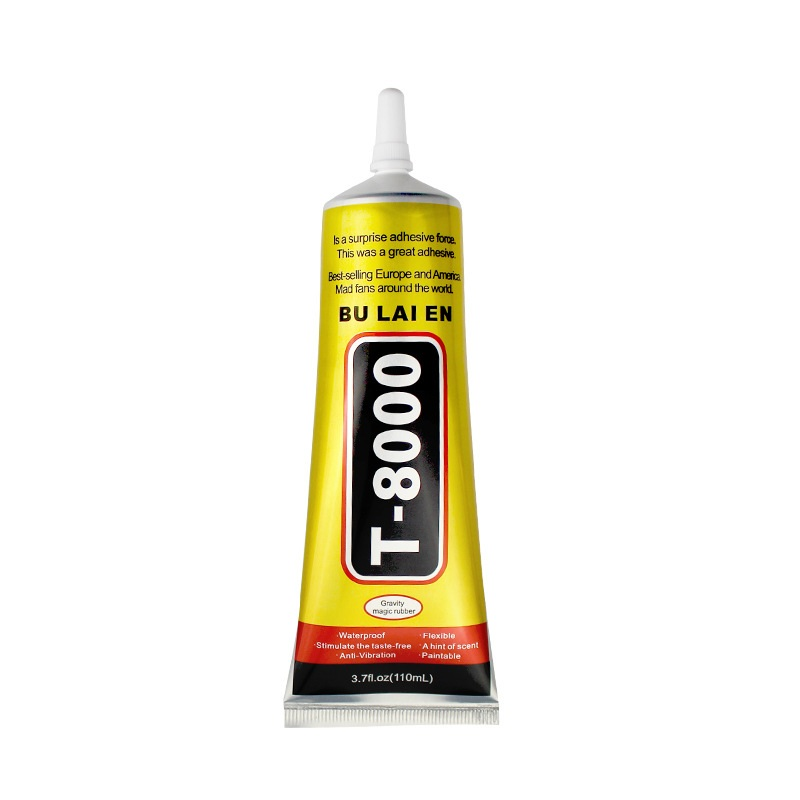 <font><b>T8000</b></font> <font><b>110ml</b></font> Multipurpose Adhesive Rhinestone Jewelry DIY Phone Screen Frame Epoxy Resin Super Liquid Glue T-8000 Nail Gel image