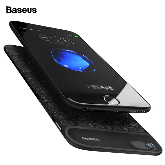 on sale c6c6a c2d90 US $19.99 35% OFF|Baseus 5000/7300mAh Battery Case For iPhone 6 Plus 6s  Plus Power Bank Charging Case For iPhone 6 s 6s Battery Charger Case  Cover-in ...