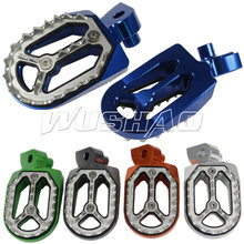 Motorcycle Foot Pegs Aluminum Footrests Footpegs Foot Rests For Yamaha YZ250F WR450F YZ 250 125 85 WR 250F 426F 450F Blue Red(China)