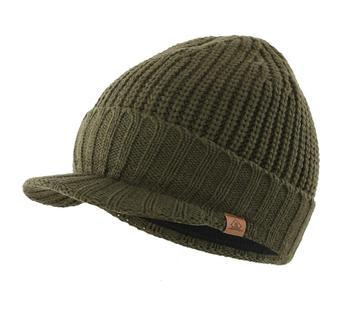 Connectyle Men's Outdoor Newsboy Hat Winter Warm Hat Thick Knit Brim Beanie Cap with Visor men s winter thick warm cable knit beanie hat 100% handmade cap