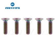 Wanyifa 5Pcs M4x8 10 15 20mm Countersunk Head Titanium Bolt Screw for Bicycle Brake Bike Fastener