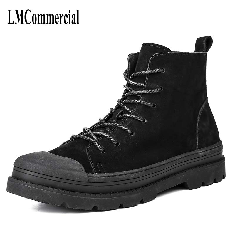new autumn winter British retro men shoes Martin boots male leather boots British retro trend of Korean shoes in England