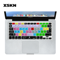 XSKN For Adobe Software After Effects Design AE Functional Silicone Keyboard Cover Skin For Macbook US