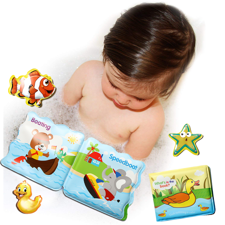 6pcs Baby Floating Kids Children Bath Tub Time Fun Play Plastic Boats Toys SK