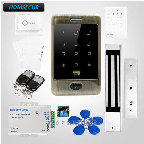 HOMSECUR Waterproof Wiegand 26/34 125Khz ID Metal RFID Reader System+Backlight wiegand 26 input