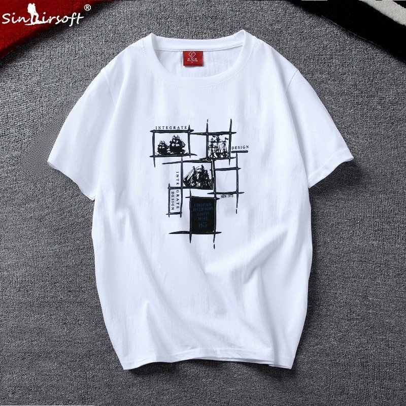 Fitness Casual Men Free Shipping Men 3D Printing T shirt 100 Cotton Summer Short sleeved O neck Large Size S 4XL T shirt 2019 in T Shirts from Men 39 s Clothing
