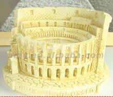 Roman Colosseum Silicone molds soap mold  silicone silica gel die Aroma stone moulds candle mould