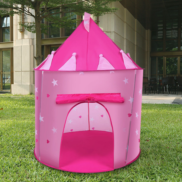 Portable Folding Play Tent Cubby House Teepees For Children Kids Play Tent Indoor Princess Toy House & Portable Folding Play Tent Cubby House Teepees For Children Kids ...