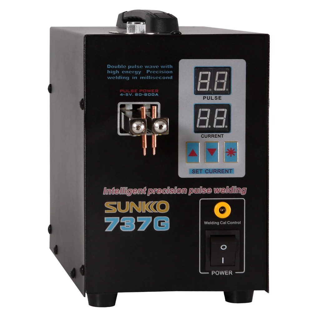 SUNKKO 737G soudeuse par points 1.5kw LED illumination double affichage numérique double Machine de soudage par impulsion pour batterie 18650