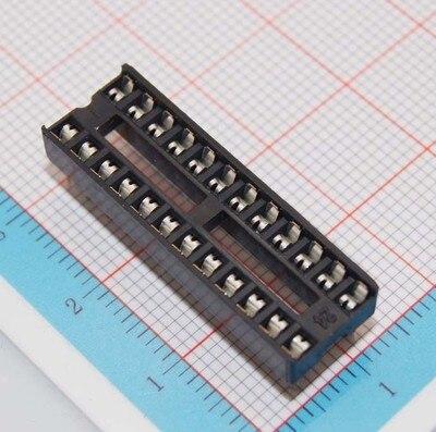 High quality 20pcs/lot 24 Pins DIP DIP24 IC Sockets Adaptor Solder Type 24 PIN IC Connector