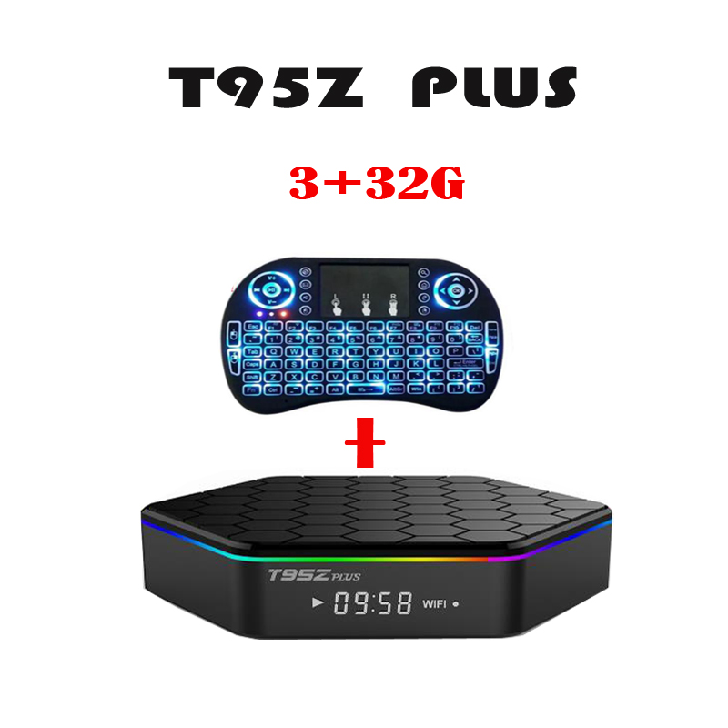 Android 7.1 TV BOX T95Z Plus Amlogic S912 Set Top box OctaCore 2GB+16G/3+32G Optional Air Mouse Smart Tv Box стоимость