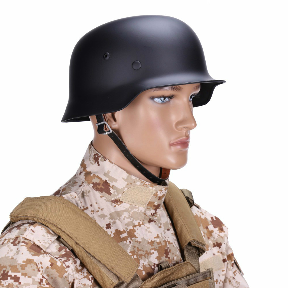 Nouveau WW2 allemand Elite M35 acier casque Durable CS armée Luftwaffe casque spécial équipement de sécurité de Combat