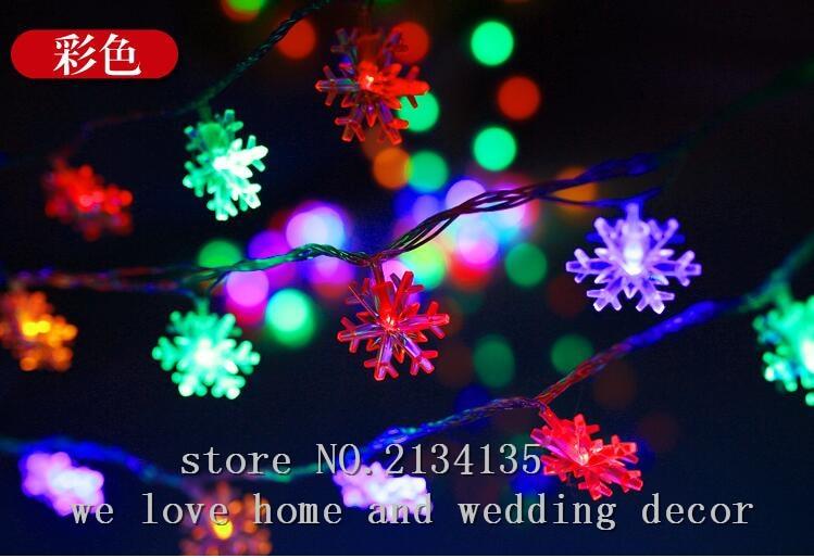 10M100LED Lights Flashing Light String Stars Snow Christmas Tree Decorating Wedding Background On Aliexpress