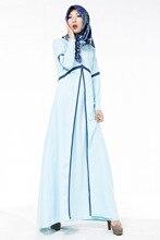 New Latest Muslim Womens Abaya Dress O Neck Long Sleeve Floor Length Islamic Kaftan Turkish Malaysia