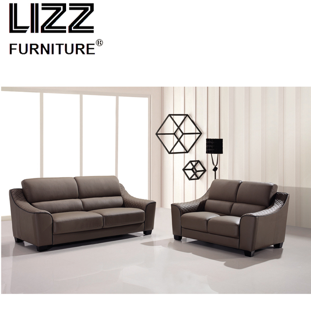 Upholstery Living Room Furniture Collection Wood Frame Sofa Set Divani Leisure Office Leather