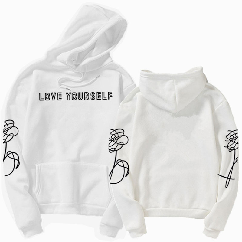 Love Yourself Hoodie HENJOY  Love Yourself Hoodies Sweatshirts Hoodie Bangtan Boys Kpop Hoody  Love Yourself Hoodies