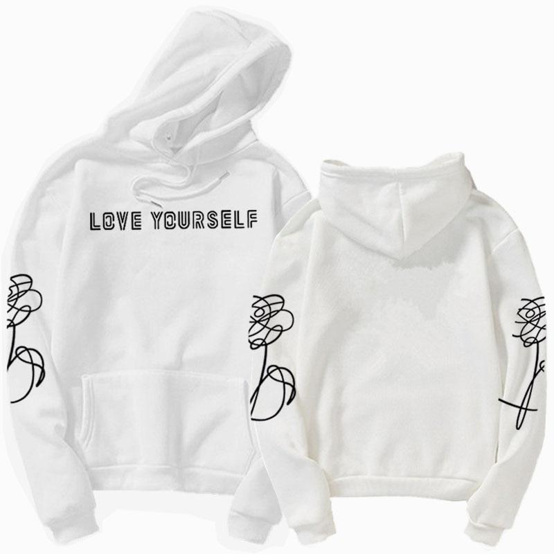 Love Yourself Hoodie HENJOY  Love Yourself Hoodies Sweatshirts Hoodie Bangtan Boys Kpop Hoody  Love Yourself Hoodies