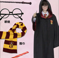 Stock Hot Sale Hufflepuff Ravenclaw Slytherin Gryffindor Cloak Cospaly Costume With Tie Magic Wand Scarf from Harry Potter Movie
