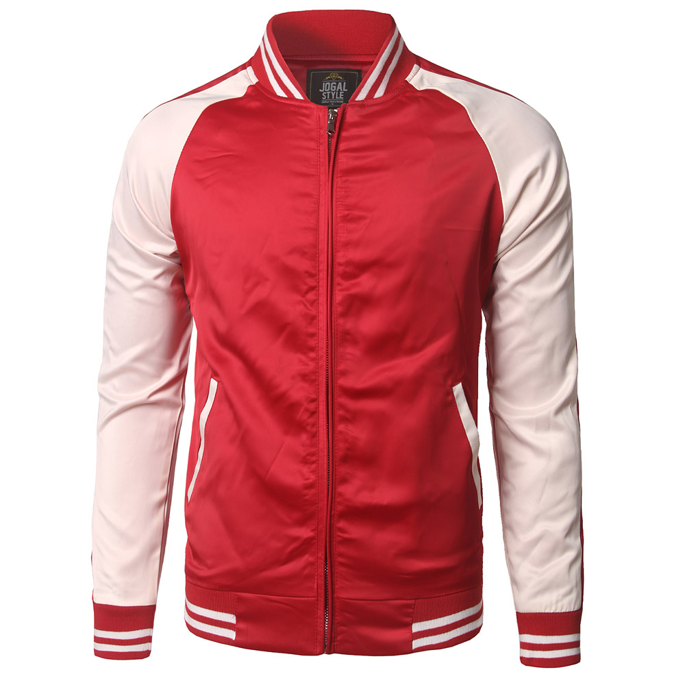 new trend red baseball jacket men veste homme 2016 mens autumn fashion raglan sleeve slim fit. Black Bedroom Furniture Sets. Home Design Ideas