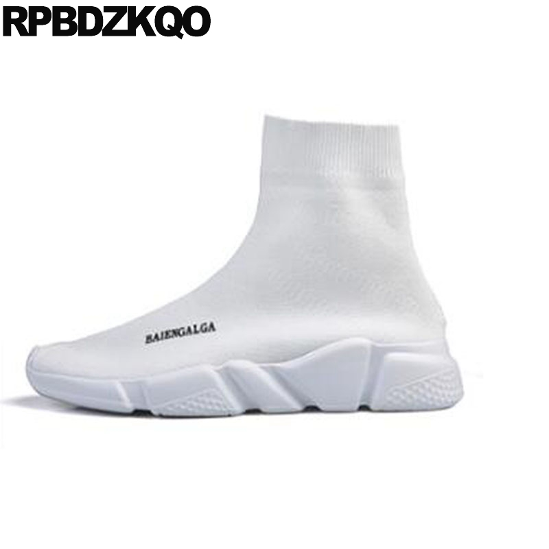 Shoes Formal Shoes New Fashion Casual Mens Shoes Slip On Knitted Stretch Fabric Sock Booties Extended Sole Platforms Trainers Mens Sneaker