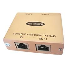 Cat5 Hi-Fi аудио дистрибьютор аналогового аудио дистрибьютор более Cat5/6 Cable 3 RJ45 аудио сплиттер