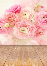 Wooden Floor Photography Backdrops Children Vinyl 5x7ft or 3x5ft Flowers Photo Studio Baby Background Props Jieqx014