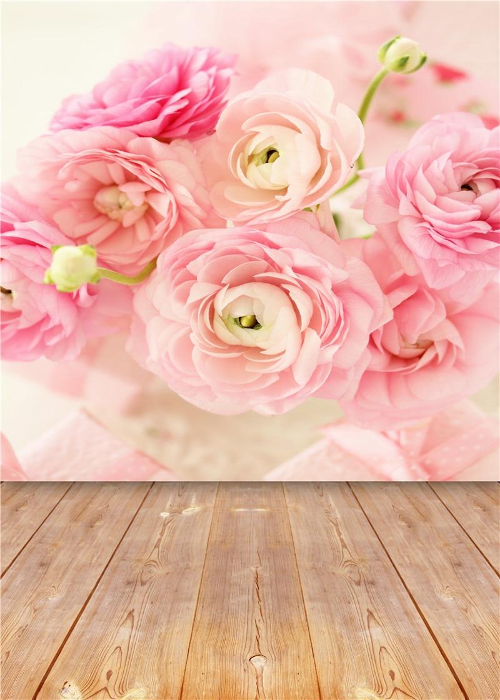 3x5ft flower wood wall vinyl background photography photo studio props - Wooden Floor Photography Backdrops Children Vinyl 5x7ft Or 3x5ft Flowers Photo Studio Baby Background Props Jieqx014