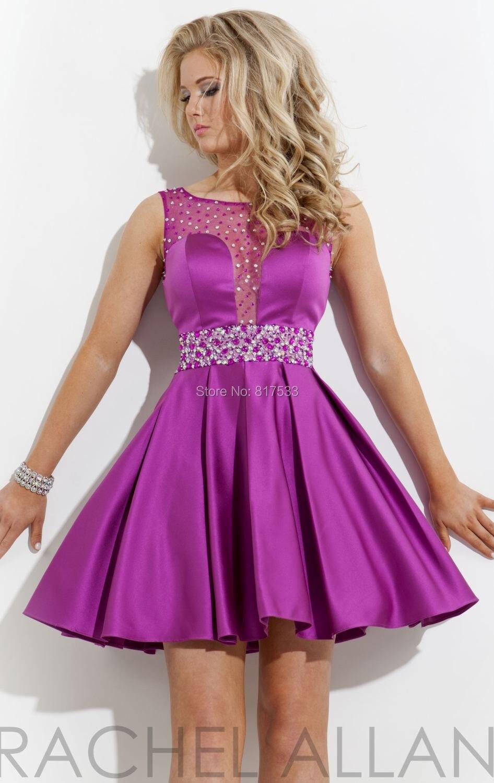 Hermosa Vestido De Fiesta Cucharada De Cuello Motivo - Vestido de ...